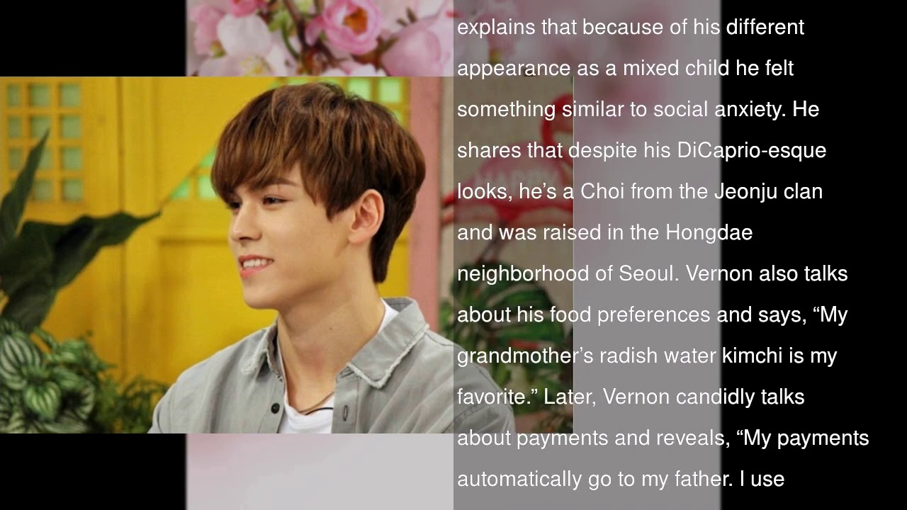SEVENTEEN's Vernon Shares Adorable Baby Photos + Talks About Resembling  Leonardo DiCaprio