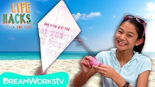 DIY Kite + Other Beach Hacks | LIFE HACKS FOR KIDS
