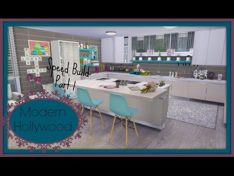 Sims 4 - Speed Build - Modern House Hollywood (Part1)