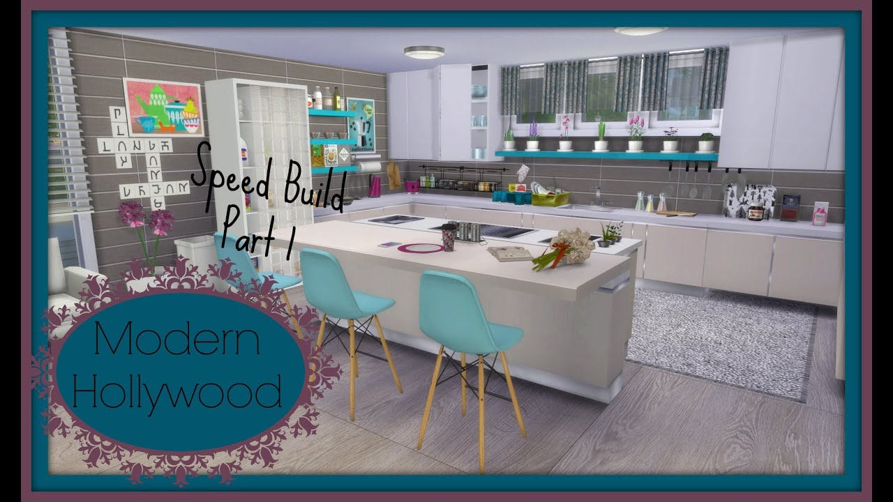 sims 4 speed build modern house hollywood part1 youtube