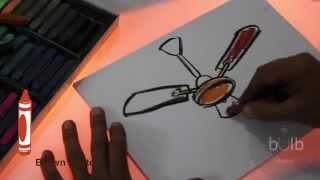 How To Draw A Fan | Scribble For Kids