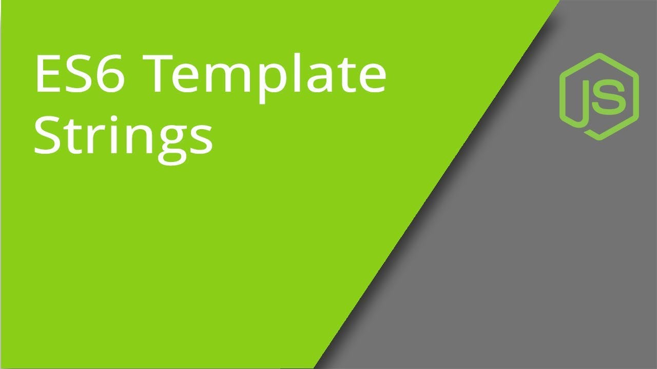 Es6 Template Strings | Es6 Template Strings Template Literals Youtube