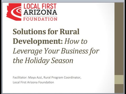Solutions for Rural Development: How to Leverage Business for Holiday Season