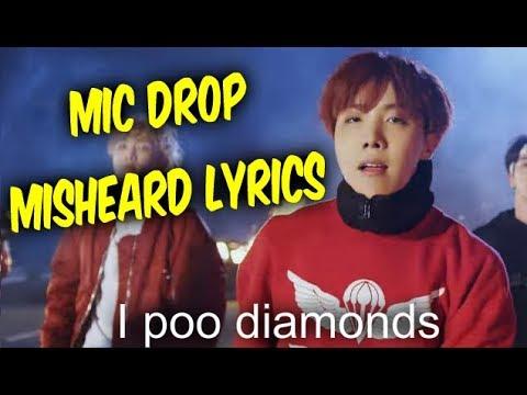 BTS Mic Drop Misheard Lyrics - Try Not To Laugh
