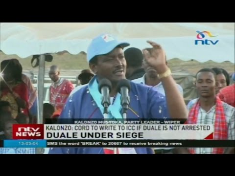 Kalonzo Musyoka: CORD to write to ICC if Aden Duale is not arrested