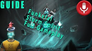Funkefal Storm Spirit Full Gameplay Guide. Learn Tricks About Ti8's Best Mid Hero.