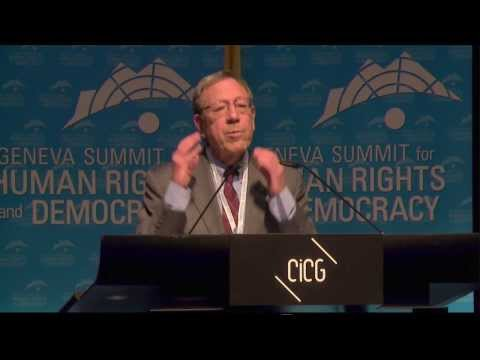 2014 Geneva Summit: Irwin Cotler, Canadian MP, Human Rights Advocate