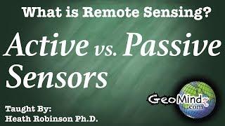 Active vs. Passive Remote Sensing - What is Remote Sensing? (2/10)