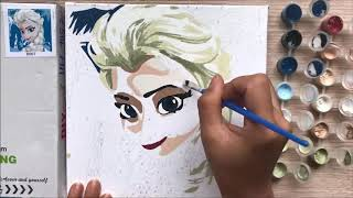 Đồ chơi trẻ em, TÔ MÀU CÔNG CHÚA ELSA FROZEN - Coloring Elsa princess toys for kids (Chim Xinh)