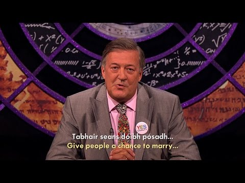 Stand Ups For Yes (with Stephen Fry ag caint as Gaeilge) #VoteWithUs