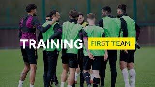 Behind the scenes: Pre Birmingham City training