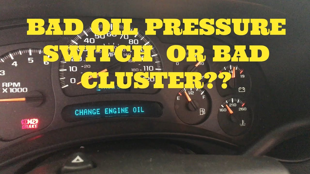 Oil Pressure Switch Replacement Chevy On Silverado Tahoe