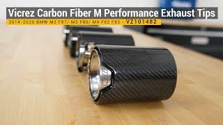 vicrez carbon fiber m performance exhaust tips vz101482 2014 2020 bmw m2 f87 m3 f80 m4 f82 f83
