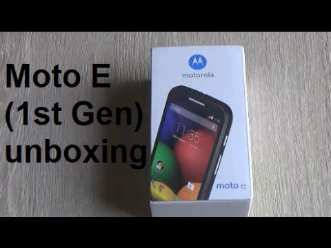 Moto E  1st Gen unboxing