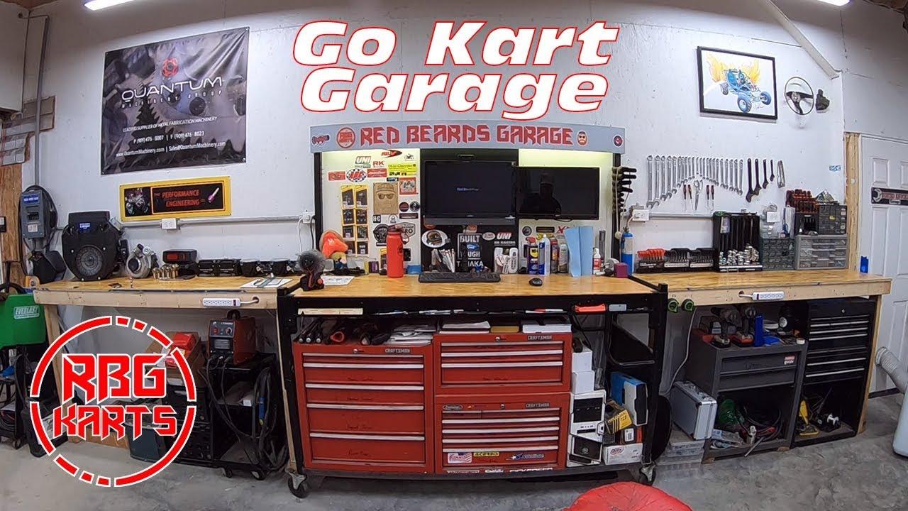 Ultimate Go Kart Garage Setup??? RBG Karts Garage Tour 2018