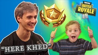 NINJA GIVES THIS KID A FREE BATTLE PASS (FORTNITE)