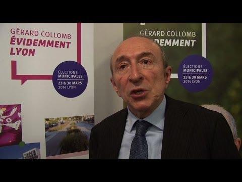 Lyon: conférence de presse du sénateur-maire Gérard Collomb