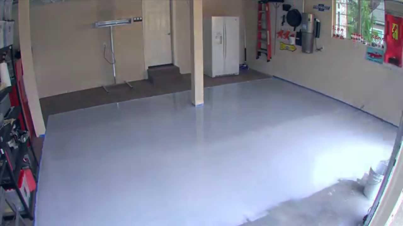 watch how to youtube floor garage paint