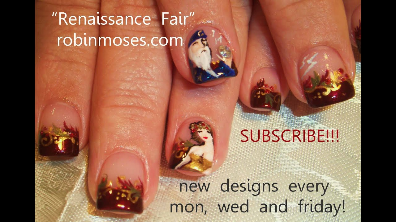 Wizard And Wench Nail Art Design Tutorial Renaissance Nails