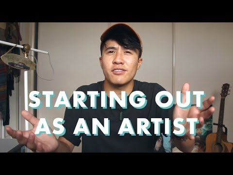 STARTING OUT AS AN ARTIST // Making An Online Portfolio