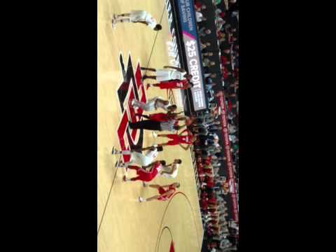Tipoff and first score..New Mexico v. SDSU Aztecs 2.6.2016