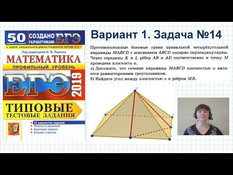 Задача 14. Профильный ЕГЭ по математике. Разбор задачи №14 ЕГЭ на угол между прямой и плоскостью