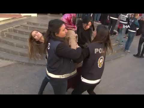 HDP önünde gerginlik