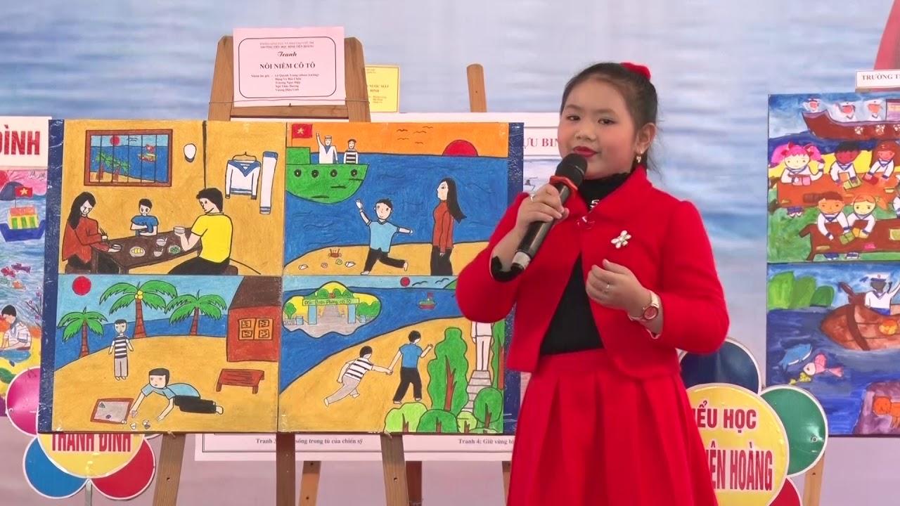 Tiểu học Đinh Tiên Hoàng   Thi kể chuyện bằng tranh vẽ   Biển đảo Tổ quốc em