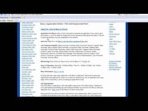 Macy's Job Application Online - YouTube