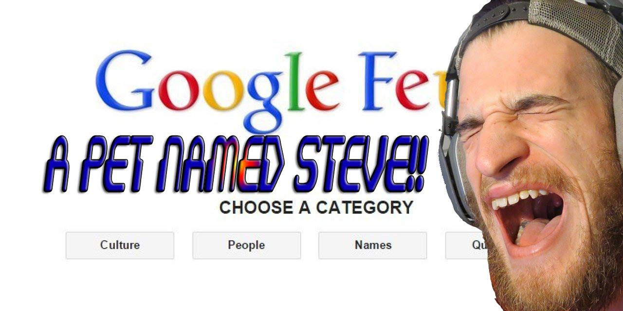 A PET NAMED STEVE!!! Google Feud Funny Moments!!