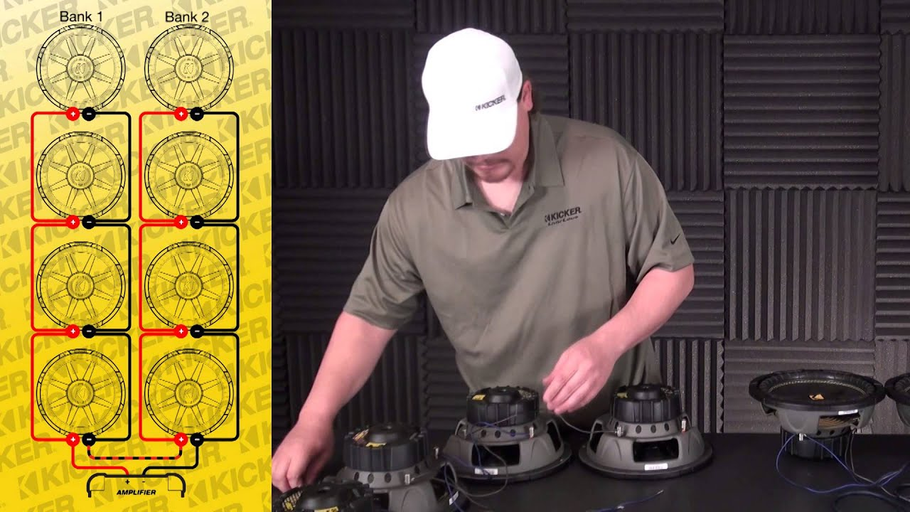 Subwoofer Wiring: Eight 4 ohm SVC Subs in Parallel / Series on
