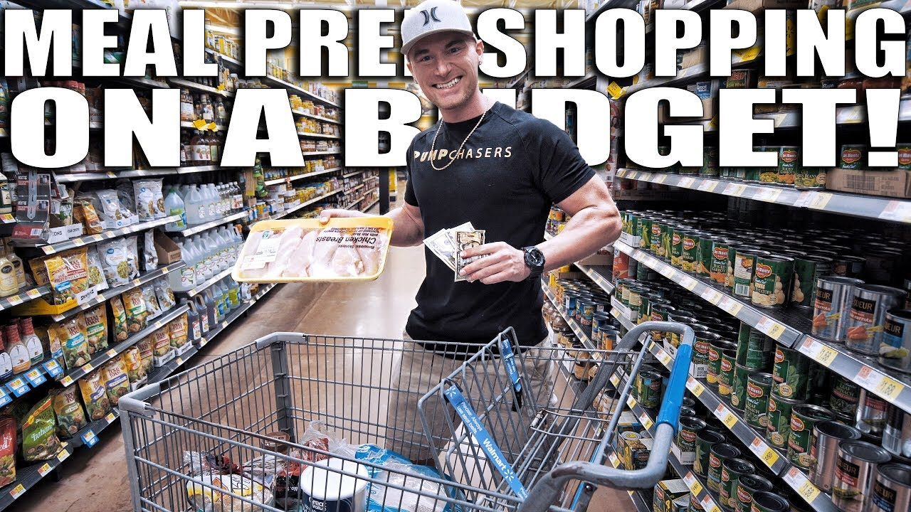 WEEKLY MEAL PREP GROCERY SHOPPING FOR UNDER  | Bodybuilding On A Budget