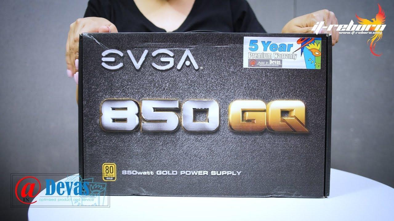 รีวิว EVGA GQ 850 Watt 80+ Gold Semi-Modular ยัด GTX 1080 2 ตัว  ไฟยังเหลือเกินครึ่ง