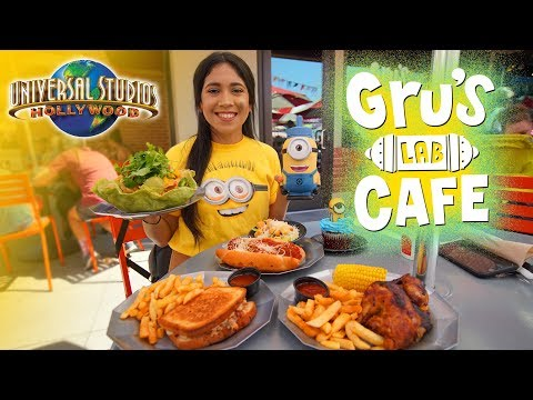 Eat Like A Minion At The Gru's Lab Cafe In Universal Studios Hollywood!