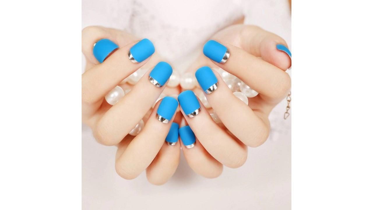 La mejores Uñas decoradas azul turquesa - YouTube