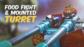 *NEW* MOUNTED TURRET & FOOD FIGHT MODE! (Fortnite Battle Royale LTM Gameplay)