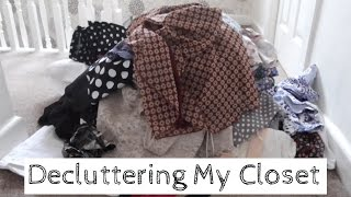 Decluttering and Organizing my Closet   Declutter with Me!