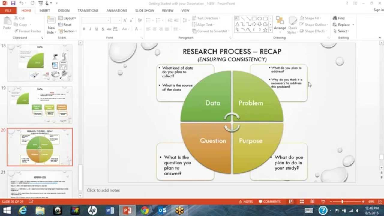 dissertation review process