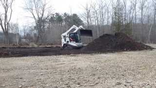Bobcat T750 Digging Out For Parking Lot