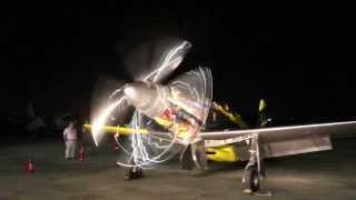 Precious Metal P-51 Griffon Engine Test Run #1 2013