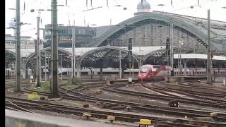 ケルン中央駅に発着する高速列車「タリス」と「ICE」