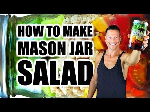 �� LIVE: EASY MASON JAR SALAD RECIPE (STEP BY STEP) | Mason Jar Salad Tutorial w/ Turkey + Balsamic
