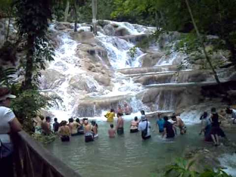 dunns river falls ocho rios jamaica youtube