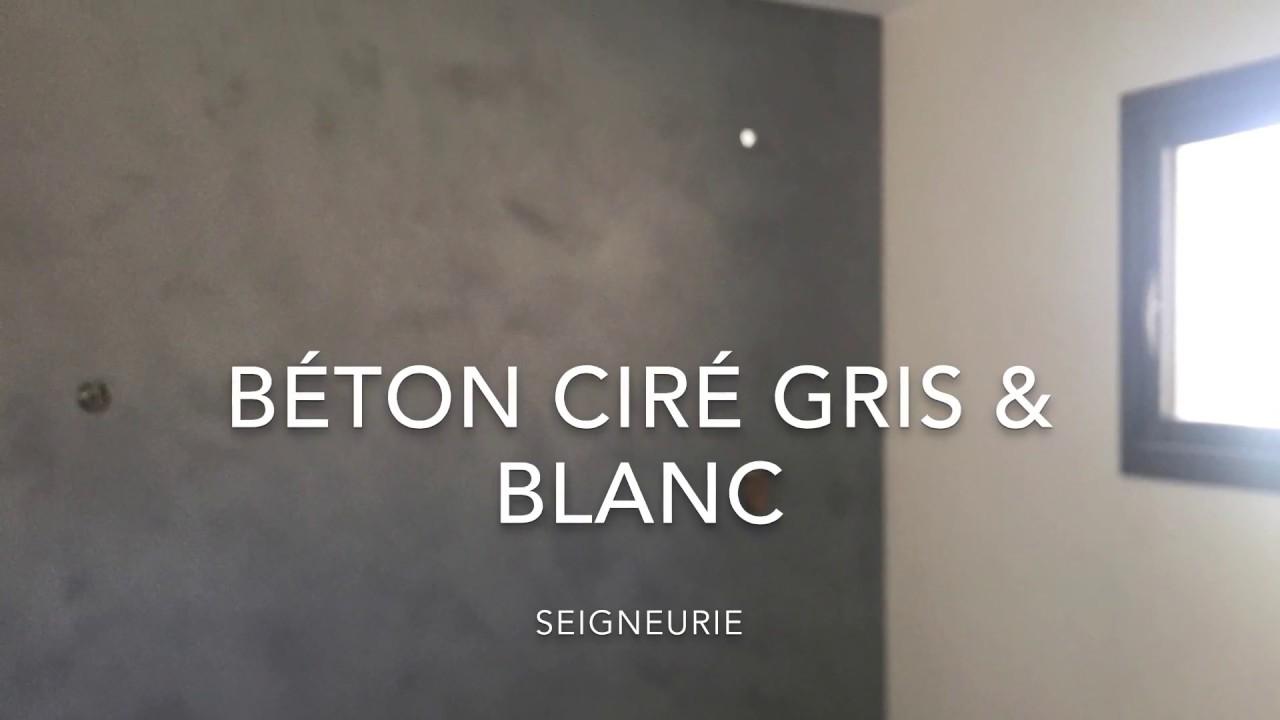 Beton Cire Gris Et Blanc Salle De Bain