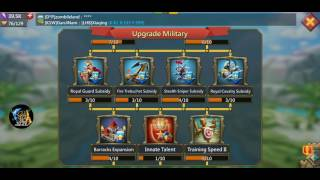 Lords Mobile - F2P T4 Goals and Tips