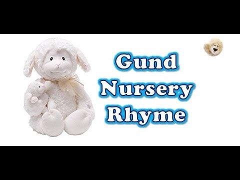 Gund Plush Nursery Rhyme Time Lamb Animated Stuffed Animal Story Book Sleep Doll