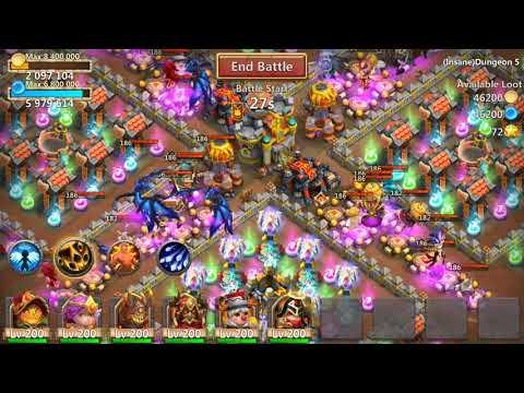 Castle Clash Insane Dungeon 5-4 3-flame F2p