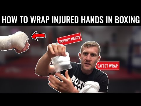 How to wrap injured hands for boxing  Subscribe for more