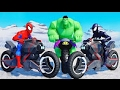 CARTOONS FOR KIDS SPIDERMAN HULK AND VENOM MOTORCYCLE RACING & SONGS FOR KIDS