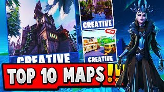 TOP 10 BEST CREATIVE MAPS IN FORTNITE (Fortnite Best Creative Map CODES)